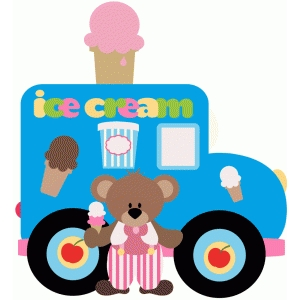 ice cream truck and bear