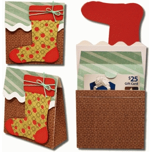 3d stocking gift card bag
