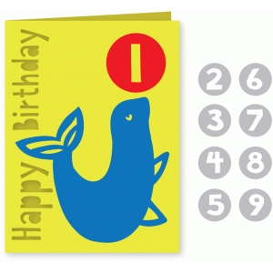 seal happy birthday card for kids