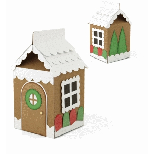 3d gingerbread house milk carton box