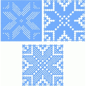 snowflake stitched patterns