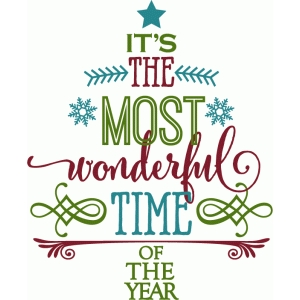 most wonderful time - word tree
