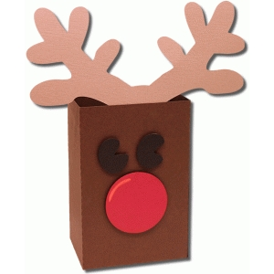 3d reindeer favor bag