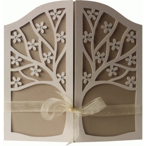 5x5 spring tree gate fold card