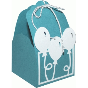 tag topper favor box - balloon birthday