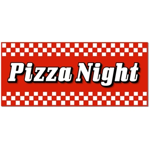 'pizza night' word title