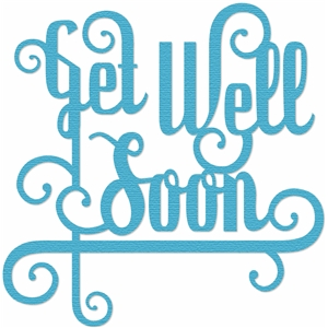 'get well soon' word phrase