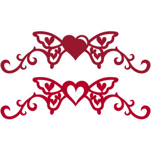 heart butterfly swirls borders