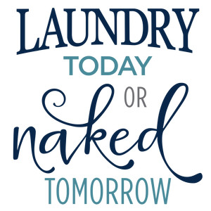 laundry today naked tomorrow phrase