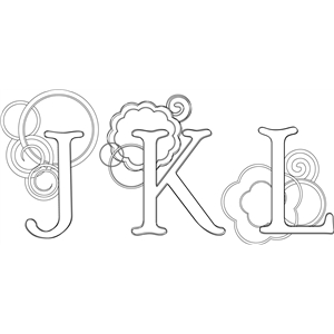 jkl monogram sketch