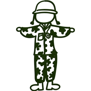 stick figures - military