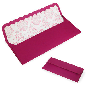 #10 scallop business sized envelope