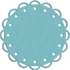 scalloped doily