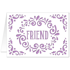 5x7 flourish card friend