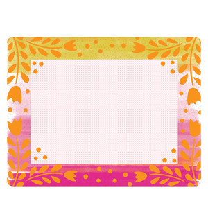 pink and orange frame