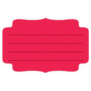 red polka dot label
