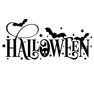 silhouette design store view design 220392 halloween word art