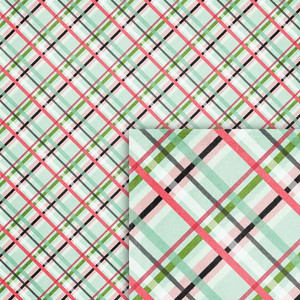winter plaid background paper