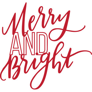 merry and bright handlettering