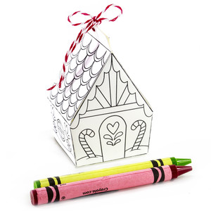 heart gingerbread house coloring ornament