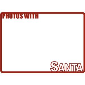 photos with santa frame