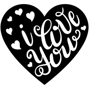 hand lettered i love you