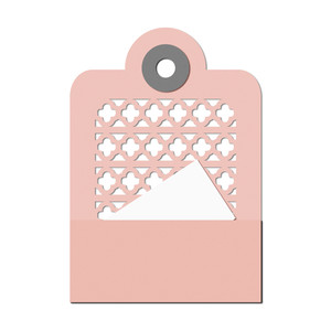 decorative cutout pocket/insert tag