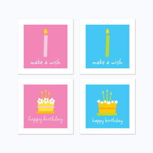 3 x 3 cards birthday