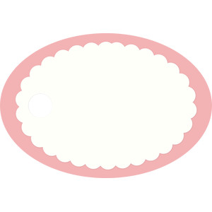 rounded scalloped tag