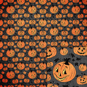 halloween jack o lantern background paper