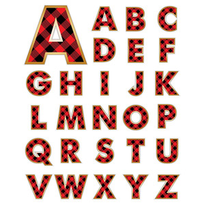 buffalo plaid alphabet/monograms