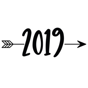 2019 new year arrow