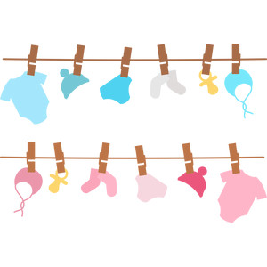 hanging baby clothes borders