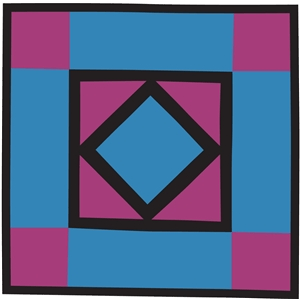 amish quilt square-diamond