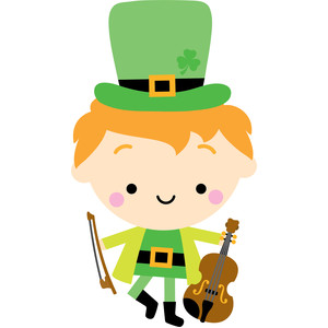 leprechaun with violin
