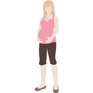 Pregnant Penelope Paper Doll