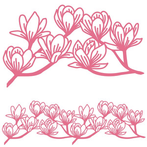 magnolia bough repeating border