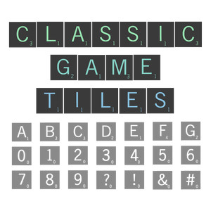 classic game tiles font