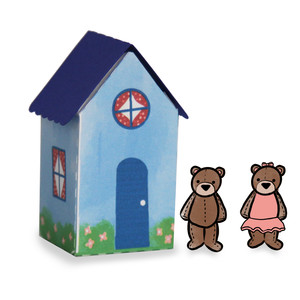 paper doll house - bears