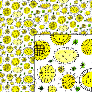 summer flowers pattern