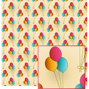 birthday balloons pattern