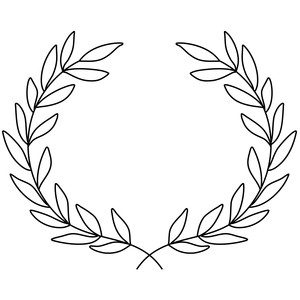 laurel wreath sketch