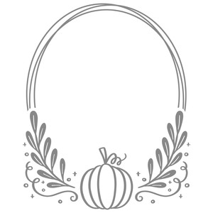 pumpkin monogram oval frame