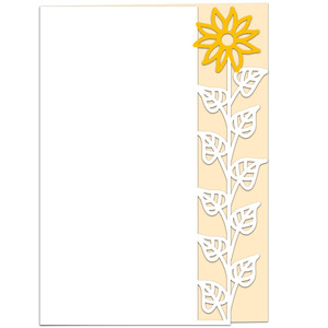 tall sunflower lace edged card