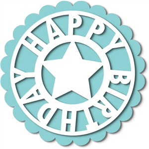 birthday tag topper circle