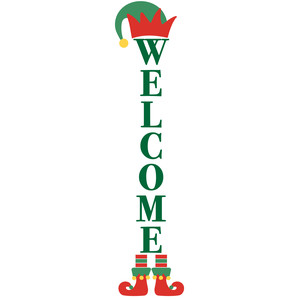 welcome elf porch sign