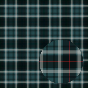 teal & red plaid seamless pattern