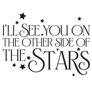 i'll see you on the other side of the stars quote