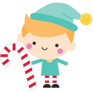 elf with candy cane