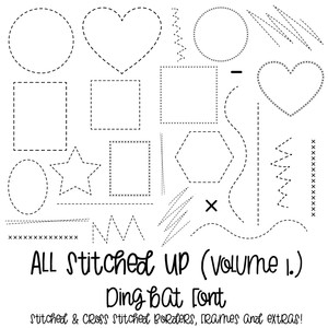 all stitched up font